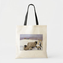 Sheep in Winter Tote Bag
