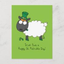Sheep Irish Funny St. Patrick's Day Postcard