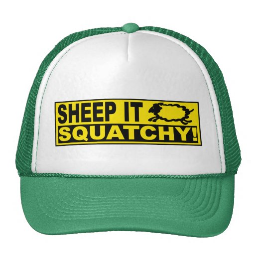 SHEEP IT SQUATCHY! Monsters Mysteries SHEEPSQUATCH Hats