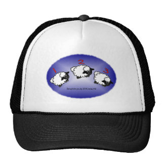 SHEEP JUMPING - LOVE TO BE ME.png Trucker Hat