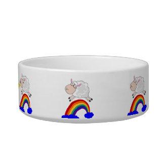 Sheep jumping the rainbow bowl
