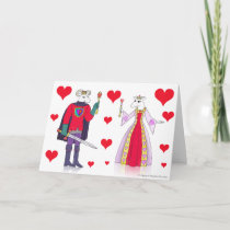 Sheep King and Queen of Hearts Holiday Card