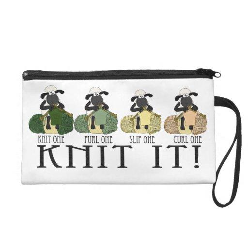 Sheep Knit It, Wristlet fun with humor