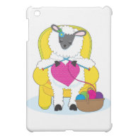 Sheep Knitting Heart iPad Mini Cover