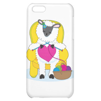 Sheep Knitting Heart iPhone 5C Cover