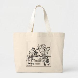Sheep Knitting Large Tote Bag