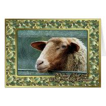 Sheep Lamb Blank Christmas Card