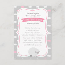 Sheep / Lamb Book Request (Pink Gray) Enclosure Card