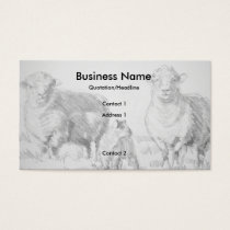 Sheep Lamb Drawing Business Cards
