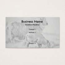 Sheep Lamb Pencil Drawing Business Cards