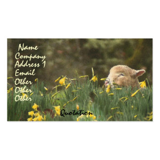 Sheep Lamb Ram Farm Animals Ranch Business Card