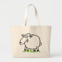 sheep large tote bag
