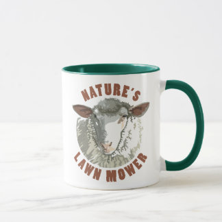 Sheep Lawn Mower Mug