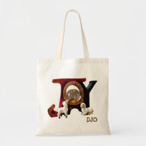 Sheep Looking At Baby Jesus Joy Tote Bag