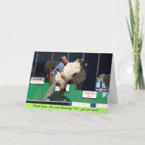 Sheep Love Valentine Card