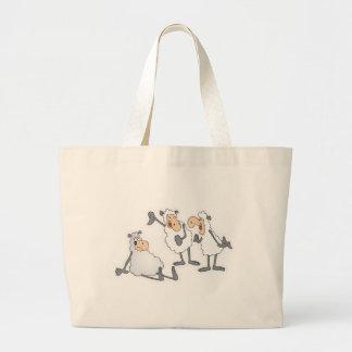 sheep making fun tote bags