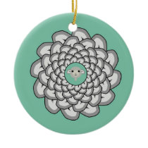Sheep Mandala Ceramic Ornament