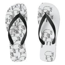 Sheep Mass Flip-Flops Flip Flops