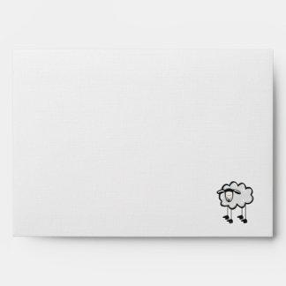 Sheep metal-look envelope