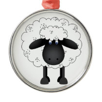 Sheep Metal Ornament