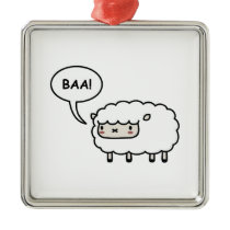 Sheep! Metal Ornament