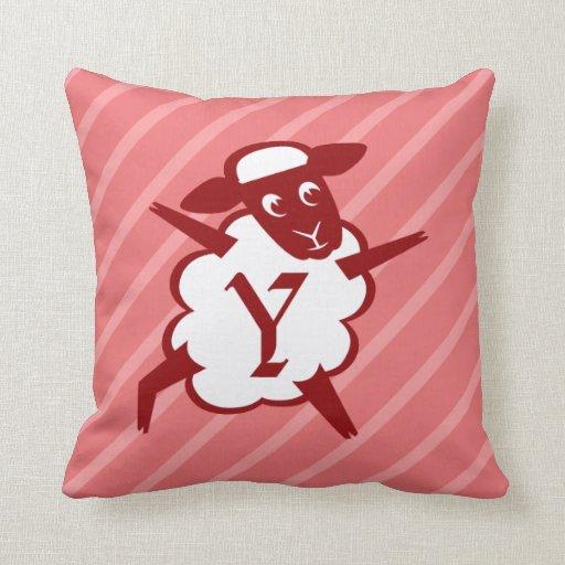 Sheep Monogram Letter Y Pillows