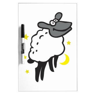 SHEEP MOON STARS Dry-Erase WHITEBOARD
