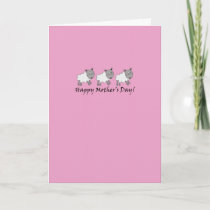 Sheep Mother's Day Card