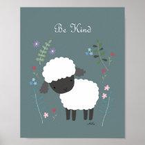 Sheep Nursery Art Cute Lamb Nursery Wall Decor