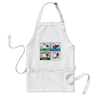 sheep of all seasons apron