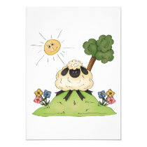 Sheep On A Hill Invitations