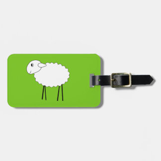 Sheep on Green Background. Luggage Tags