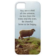 Sheep on Mountain Desiderata iPhone 5 Case at Zazzle