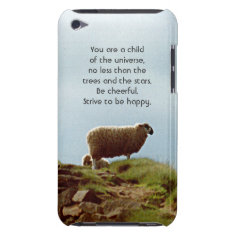 Sheep on Mountain Desiderata iPod Touch Case at Zazzle
