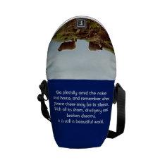 Sheep On Mountain Desiderata Mini Messenger Bag at Zazzle