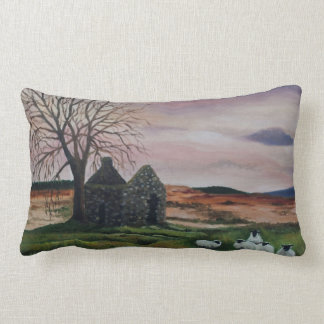 Sheep on Parkmore, County Antrim painting PILLOW