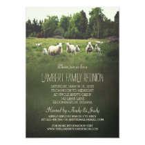Sheep on Pasture | Family Reunion Invitation