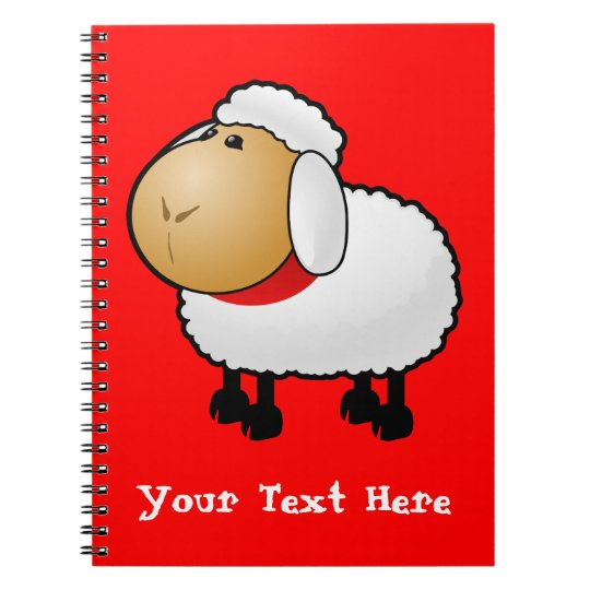 Sheep on Red Notebook