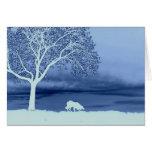 """""""Sheep on the Horizon 4""""~Border Collie Christmas Greeting Card"""