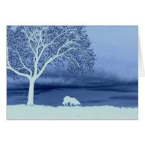 """""""Sheep on the Horizon 4""""~Border Collie Christmas Card"""