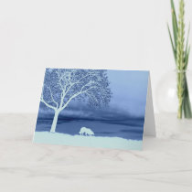 """Sheep on the Horizon 4""~Border Collie Christmas Holiday Card"
