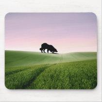 Sheep on the horizon...Border Collie Mousepad