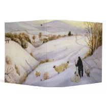 Sheep on the ridge 3 ring binder