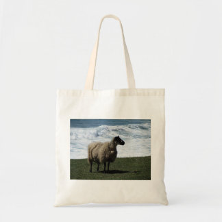 Sheep on wild remote south Devon coastline Tote Bag
