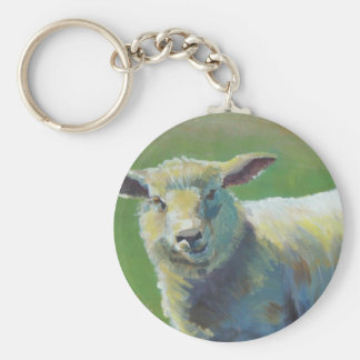 Sheep Painting Basic Round Button Keychain