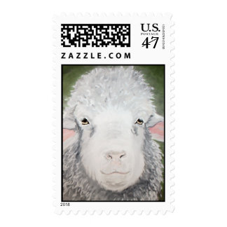 Sheep Painting by Kathryn A. Gainard Postage