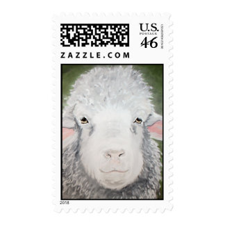 Sheep Painting by Kathryn A Gainard Postage Stamps