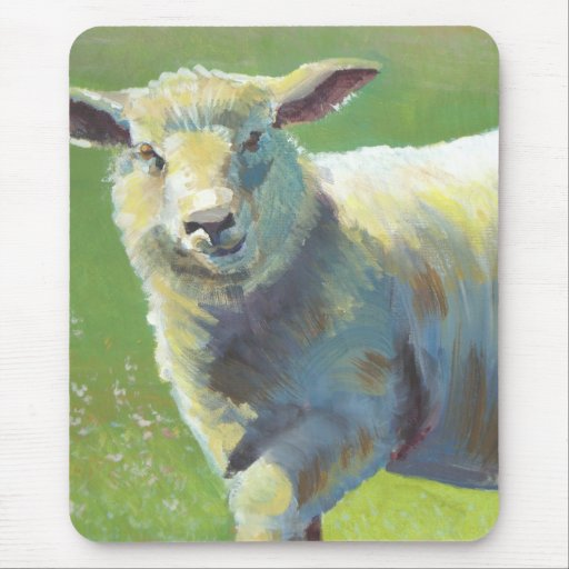 Sheep Painting Mouse Pad