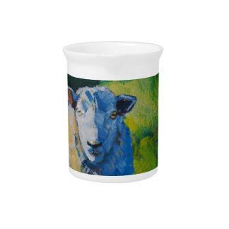 Sheep Painting Beverage Pitchers