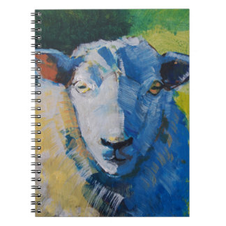 Sheep Painting Spiral Notebooks